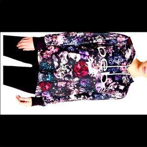 Bebe get fit floral hoodie